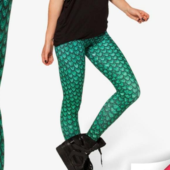 fa67b08b90e33c leggings Pants | Fish Scale Green Women Girls Size Xs | Poshmark